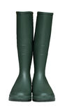 Green wellies isolated Stock Photo