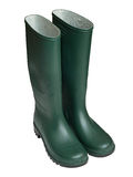 Green Wellington boots Royalty Free Stock Image