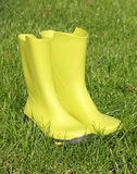 Green wellingtons