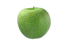 Green wet apple Royalty Free Stock Photo
