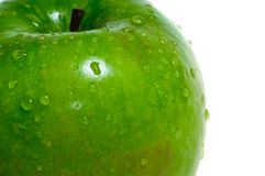 Green wet apple macro Royalty Free Stock Photos