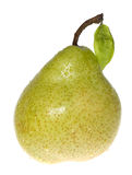 Green wet pear Stock Photo