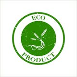 Green wheat, eco, natural product stamp  illustration. Green wheat logo, eco, natural product stamp  illustration Royalty Free Stock Photos