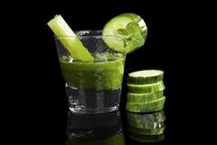 Green wheat grass drink. Stock Photo