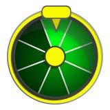 Green wheel fortune icon, cartoon style royalty free illustration