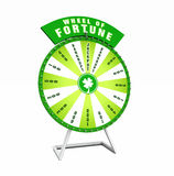 Green wheel of fortune royalty free stock photo