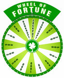 Green wheel of fortune. Illustration of green wheel of fortune isolated on white background Royalty Free Stock Images