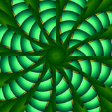 Green whirligig kaleidoscope Royalty Free Stock Photo