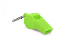 Green whistle Stock Image