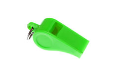 Green whistle Stock Photo