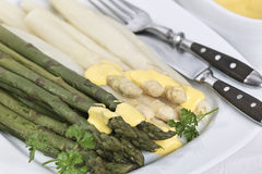 Green and whit asparagus Stock Images