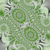 Green and white abstract. Royalty Free Stock Image