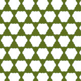 Green and White Abstract Pattern. An abstract background pattern done in white on a green background. The white motif is a triangle that is softened by the stock illustration