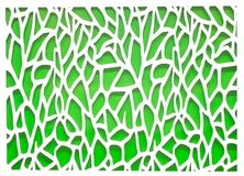 Green and White Abstract Background Stock Photography