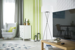 Green and white apartment royalty free stock images