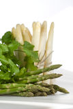 Green and white asparagus Stock Image