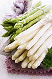 Green and White Asparagus Stock Images