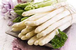 Green and White Asparagus royalty free stock photos