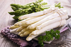 Green and White Asparagus Royalty Free Stock Photo