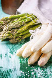 Green and white asparagus Royalty Free Stock Image