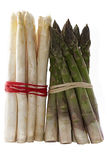 Green and white asparagus isolated Stock Photography