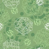 Green and white background Stock Images