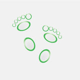 Green on white background foot . Royalty Free Stock Photo