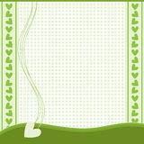 Green and white background Royalty Free Stock Photos