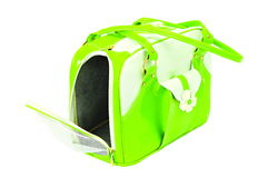 Green-white bag for dog Royalty Free Stock Photography
