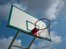 Green and white basketball hoop Stock Photography