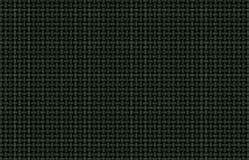 Green White Black Woven Metallic Background. Braiding of horizontal and vertical green and white strands on a black background creates a basketweave pattern with Stock Photo