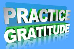 Practice gratitude Royalty Free Stock Photos