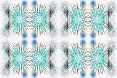 Green white and blue digitally enhanced and manipulated fantasy. Background pattern photo originating from fireworks Stock Illustration