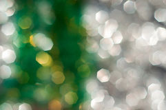 green and white bokeh lights defocused, abstract background Stock Image