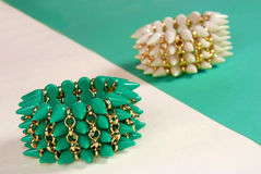 Green and white bracelets Royalty Free Stock Image