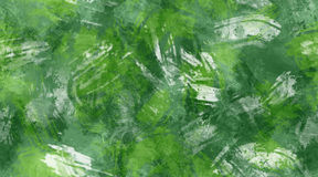 Green and White Brush Strokes Seamless Texture Background. Spring green, dark green, and white brush strokes, seamless tile background texture Stock Images