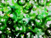 Green and white bubble abstract background Royalty Free Stock Photos