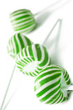 Green and white candy lolly pops Royalty Free Stock Photography