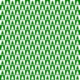 Green and white checkerboard with trees Stock Photo