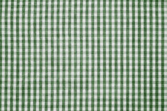 Green and white checkered fabric background texture. Green and white color checkered fabric background texture Stock Photos