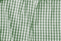 Green and white checkered fabric background texture. Green and white color checkered fabric background texture Royalty Free Stock Photo