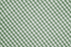 Green and white checkered fabric background texture. Green and white color checkered fabric background texture Royalty Free Stock Photography