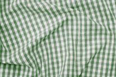 Green and white checkered fabric background texture. Green and white color checkered fabric background texture Stock Photo