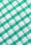 Green and white checkered pattern texture. Of table cloth for background Royalty Free Stock Image