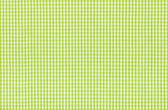 Green and white checkered textile. Green and white checkered fabric Stock Photography