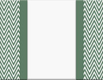 Green and White Chevron Zigzag Frame with Ribbon Background Stock Images