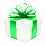 Green and white Christmas gift box Royalty Free Stock Image
