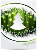 Green white christmas greeting card Royalty Free Stock Photo