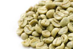 Green (white) coffee beans Stock Photos