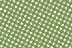 Green and White Computer Generated Abstract Plaid Pattern Stock Image